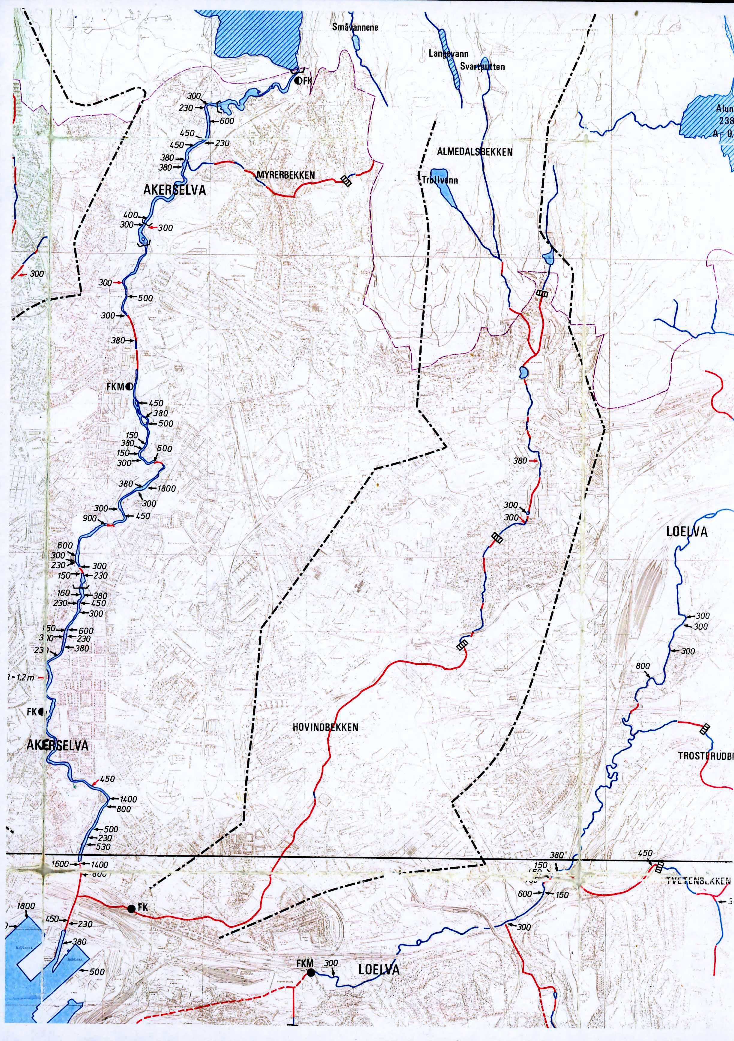 akerselva vandring kart Kart | Hovinbekken akerselva vandring kart