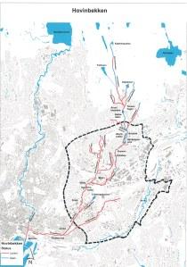 Kart Hovinbekken med Hovinbyen JPG